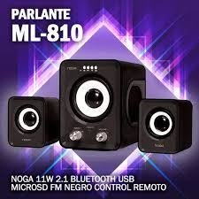 Parlantes 2.1 Noga Ml-810 Bluetooth Usb Micro Sd C/control en internet