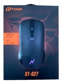 Mouse Gamer Noga Stormer 2400 Dpi Cable Mallado Rgb St-627