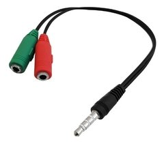 CABLE ADAPTADOR AURICULAR CON MICROFONO PC/PS4/XBOX | GENERICO