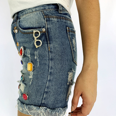 SHORTS BORDADOS LINDO JEANS - D1 Look
