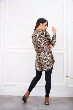 Camisa LARGA ANIMAL PRINT SEDA en internet