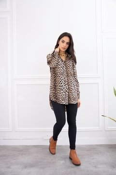 Camisa LARGA ANIMAL PRINT SEDA