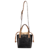 Crossbody Media Croco com Saco Interno - 45234