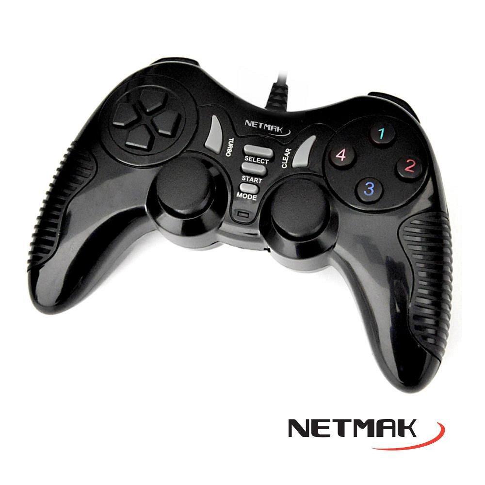 Joystick gamepad PC/PS3 con cable NETMAK NM-TURBO