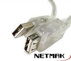 Cable alargue USB 2.0 1.8m NETMAK NM-C09