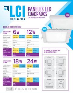 PACK x 30 Paneles Embutir LED 18W en internet
