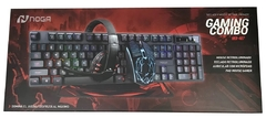 Combo Gamer Noga Teclado + Mouse + Auriculares + PAD NKB407