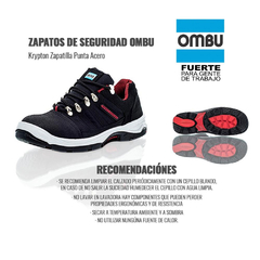 zapatilla krypton c/puntera de acero - Terry Black