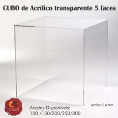 CUBO 5 FACES Acrílico 2.4mm Transparente na internet