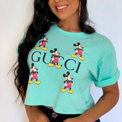 Cropped Moderno Mickey gucci