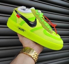 Nike Air Force 1 Off White - Verde - comprar online