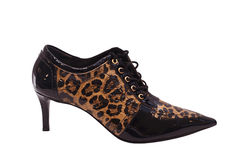 Ankle Boot Jorge Bischoff Animal Print Verniz