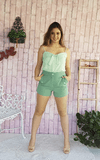 short-feminino-verde-look-belle