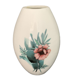 Vaso Oval Floral Tropical