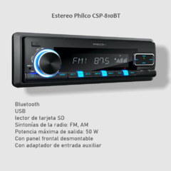 Estéreo Philco CSP-810BT, Radio FM/ AM,  Bluetooth, USB - comprar online