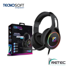 AURICULARES CRUSH SOUND XH100 GAMER SOUL RGB FUTURE 3.5 PC/PS4 C/M - comprar online