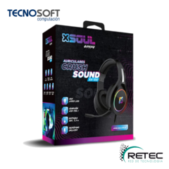AURICULARES CRUSH SOUND XH100 GAMER SOUL RGB FUTURE 3.5 PC/PS4 C/M en internet