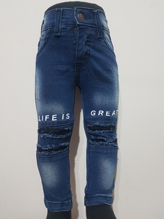 "Roturas ""LIFE IS GREAT"" - Azul"