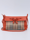 Bolsa Burberry Haymarket Check Orange Crossbody