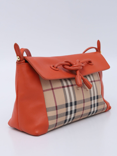 Bolsa Burberry Haymarket Check Orange Crossbody - loja online