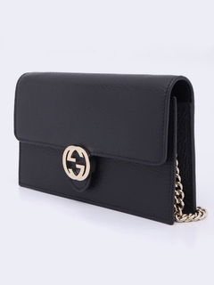Imagem do Bolsa Gucci Interlocking G Wallet On Chain Preta