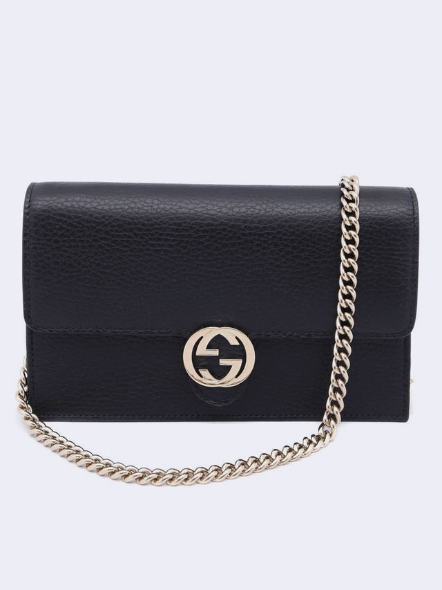 Bolsa Gucci Interlocking G Wallet On Chain Preta