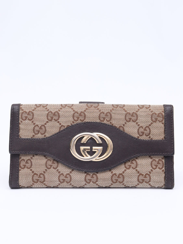 Carteira Gucci GG Monogram Large