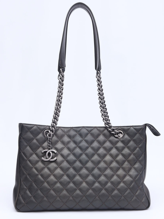Chanel Shopping Tote Metalic Grafite