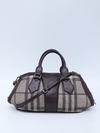 Mala Burberry Smoked Check Coated Canvas Shoulder