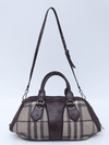 Mala Burberry Smoked Check Coated Canvas Shoulder - loja online