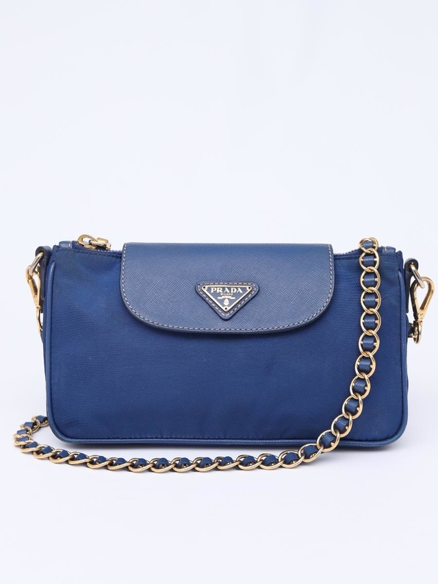 Bolsa Prada Tessuto Nylon and Saffiano Small Crossbody