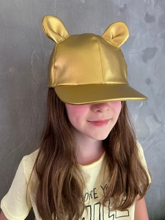 Boné Mouse Dourado - Kika Pagnot Kids Accessories