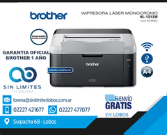 IMPRESORA BROTHER-HL 1212W C/WIFI LASER NEGRO