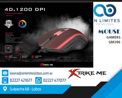 Mouse Gamer Xtrike Me Gm-206 Retroiluminado Usb 1200 Dpi