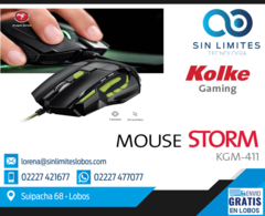 Mouse Gamer Kolke Storm Dpi Multicolor Gaming Pc