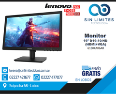 MONITOR LENOVO 19 Pulgadas Tn Led D19-10 Hd Hdmi Vga