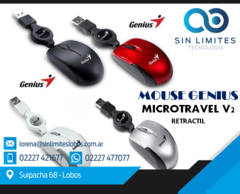 Mouse mini Genius Súper mini mouse Micro Traveler