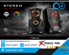 Parlantes Gamer Sk-501 2.0 Luces Rgb 3w X2 Usb / 3.5 Pc Tv