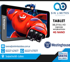 Tablet Westinghouse 10 Pulgadas Octa Core 2gb 32gb Android 4G NANO