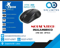Mouse Inalambrico Xtech Xtm-300 2.4ghz Wireless 1200 Dpi Negro