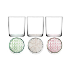 SET X 6 VASO DECORADO BOHO 370CC (95014)