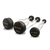 Set of 5 Ruber Coated EZ Curl Barbells - 10 - 35 kgs