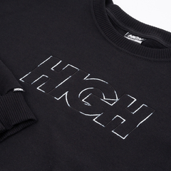 Moletom HIGH Crewneck Logo Colored Black - comprar online