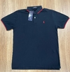 Camisa Polo Ralph Lauren Custom Fit Preta