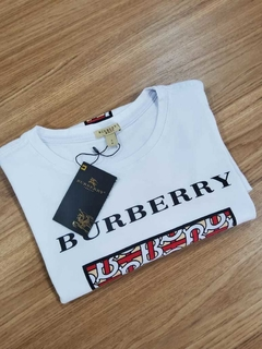 Camiseta BURBERRY BRANCA com estampa na internet