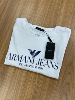 Camiseta ARMANI JEANS - Branca regular - MEN's Closet