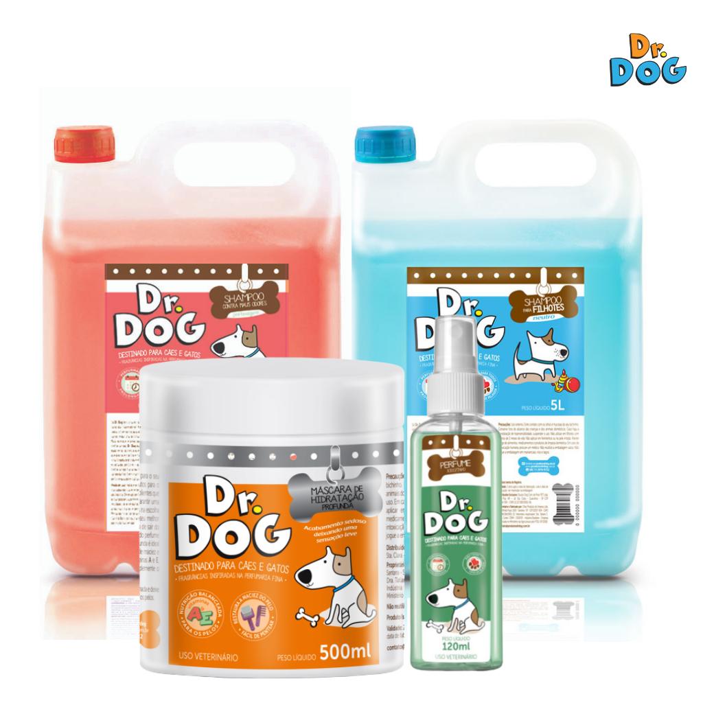 Kit Dr. Dog Cães E Gatos Premium Shampoo Neutro Hipoalergenico Para Ba...