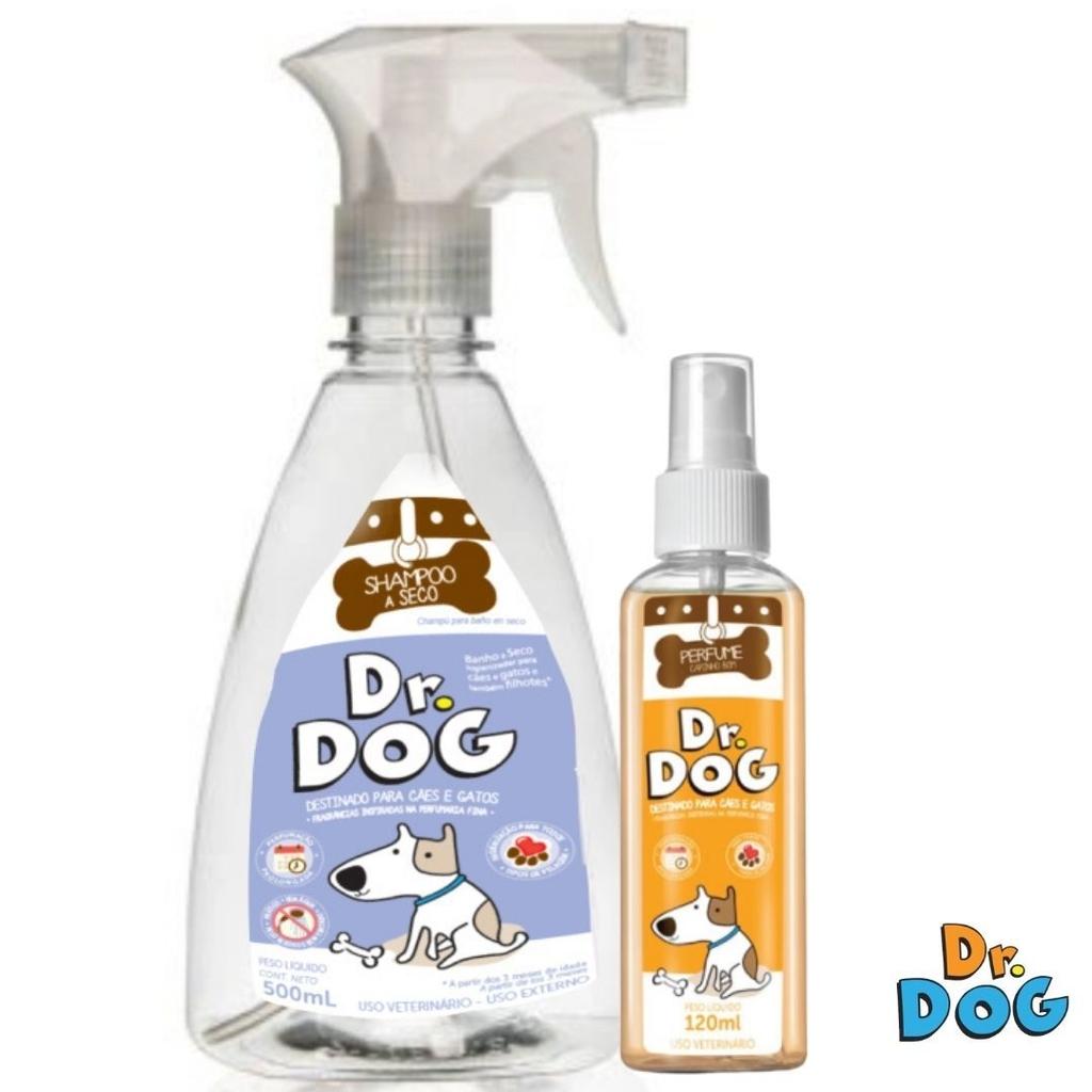 Kit Dr. Dog Banho A Seco Cães E Gatos...