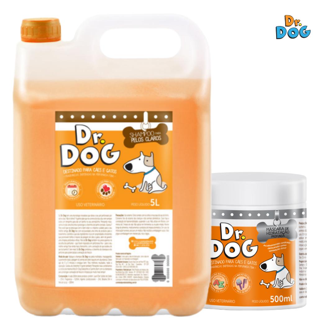 Kit Shampoo Clareador Dr Dog 5L E Másc...