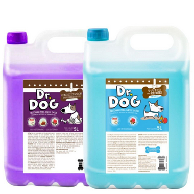 Kit Banho & Tosa Shampoo E Condicionador 5L Dr. Dog Desmaio Hipoalerge...